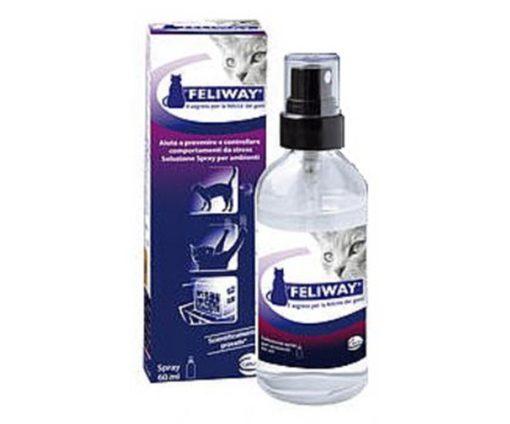 Spray per prevenire o controllare stress gatto.