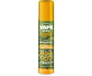 Vape antipuntura è uno spray insetto repellente secco in grado di proteggere la pelle di adulti e bambini da diversi insetti volanti quali zanzara comune