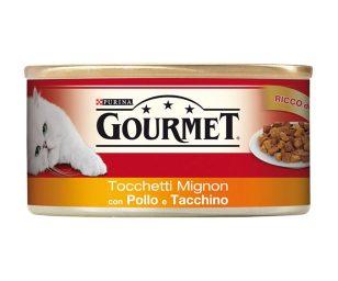 Il tuo gatto proverà intense esperienze di gusto grazie a gourmet red tocchetti.