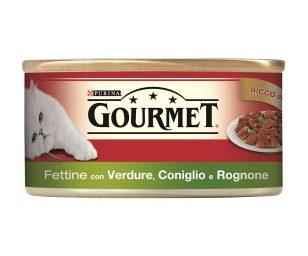 Il tuo gatto proverà intense esperienze di gusto grazie a gourmet red fettine.