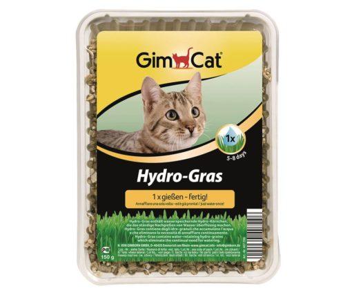 Soltanto la hy-gras gimpet contiene degli hydro-granuli che accumulano l'acqua e che rendono superflua ogni altra aggiunta d'acqua.