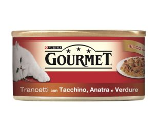 Il tuo gatto proverà intense esperienze di gusto grazie a gourmet red trancetti.
