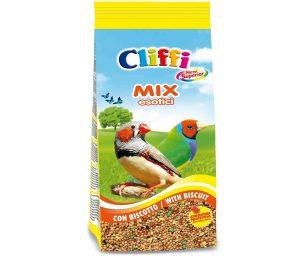 Alimento completo per uccelli esotici ornamentali.