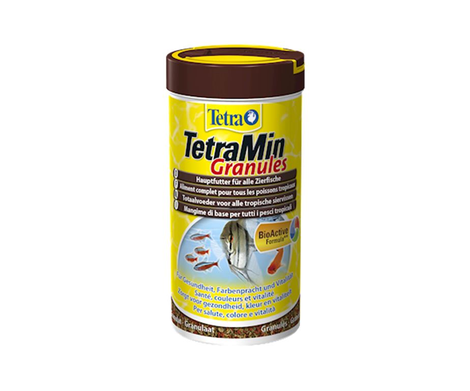 Mangime di base in granuli per tutti i pesci ornamentali.