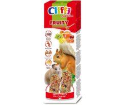 Alimento complementare per criceti e scoiattoli da compagnia con frutta e miele.