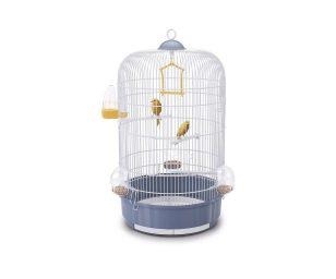 Luna è una gabbia rotonda per canarini e piccoli uccelli dalle dimensioni medie