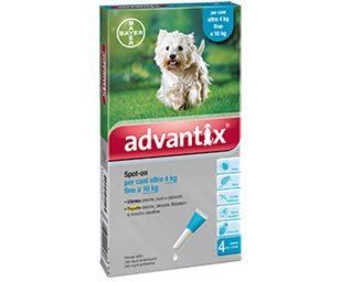 Advantix® un prodotto frutto della combinazione di due principi attivi: imidacloprid e permetrina. Questa associazione agisce come antiparassitario