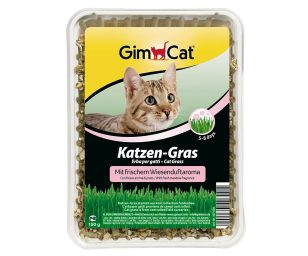L'erba per gatti gimpet è a base di semi che germogliano assai velocemente e che vengono depurati e coltivati su campi controllati.