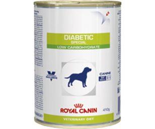 Diabetic special è un alimento dietetico completo per cani destinato al controllo dell'apporto di glucosio (diabete mellito). Questo alimento è caratterizzato da una bassa concentrazione di carboidrati che liberano glucosio rapidamente.