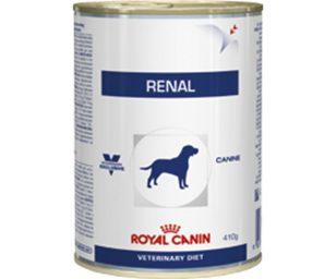 Renal è un alimento dietetico completo destinato ai cani:- per il supporto della funzione renale in caso di insufficienza renale cronica o temporanea