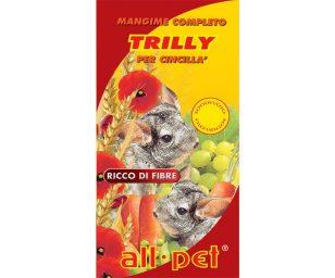 Mangime per animali d'affezione alimento completo composto per cincillà.