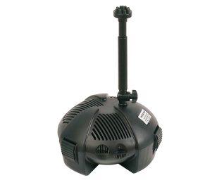 Pompe adatte per piccoli e medi laghetti. Complete di giochi d'acqua e regolatore di portata.