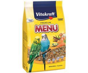 Alimento completo specifico per pappagallini con semi selezionati maturati al sole quali miglio rosso