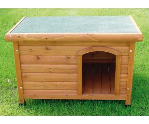 Cuccia per cani in legno ideale per il riposo e la protezione dei vostri cani.