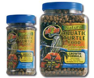 Cibo per le tartarughe d'acqua in pratici granuli galleggianti.