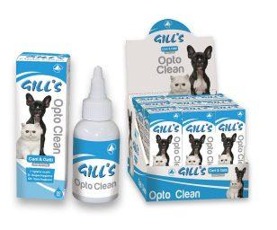 Gill's opto-gill's è uno spray per l'igiene degli occhi del tuo amico a quattro zampe.