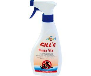 Gill's dissuasore pussa via è uno spray repellente per animali.