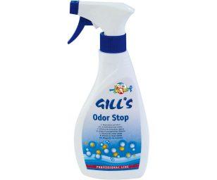 Gill's odorstop è uno spray per neutralizzare gli odori derivanti dagli escrementi.