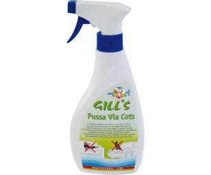 Gill's dissuasore pussa via è uno spray repellente per gatti.