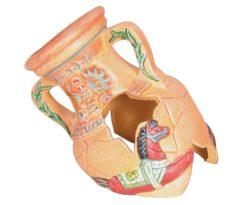 Questo collo d'anfora in ceramica darà uno splendido tocco decorativo che abbellirà il vostro acquario.