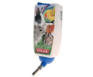 Questo biberon molto pratico e igienico consente al vostro piccolo mammifero di dissetarsi ogni volta che lo desidera.