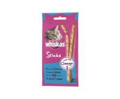 Prova i deliziosi Whiskas® catsticks realizzati con l'80% di pesce ai quali il tuo gatto non potrà resistere.