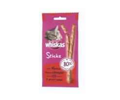 Prova i deliziosi Whiskas® catsticks realizzati con l'80% di carne ai quali il tuo gatto non potrà resistere.