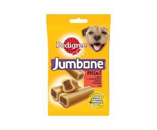 I cani amano masticare - Jumbone ™ è un delizioso snack per il tuo cane. Combina una parte esterna più dura con un interno morbido e delizioso - qualcosa che il tuo cane può tenere tra i suoi denti e che ha anche un ottimo sapore.