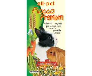 Mangime per animali d'affezione. Alimento completo composto per conigli nani