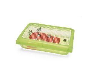 Ninfea è una vaschetta per tartarughe capiente e dai colori vivaci.