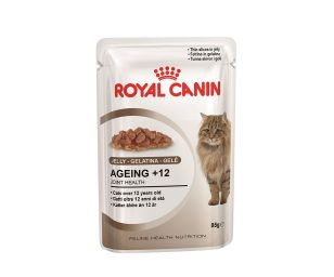 Alimento completo per gatti anziani oltre i 12 anni di età.
