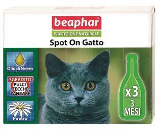 Lo Spot On Protezione Naturale Beaphar per gatti utilizza solo essenze ed oli vegetali davvero efficaci contro parassiti ed insetti ed al contempo delicati con il mantello e la cute dell'animale.