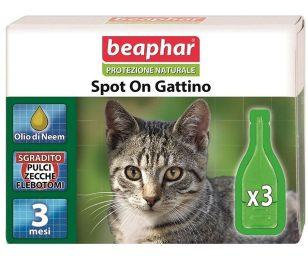 Lo Spot On Protezione Naturale Beaphar per gattini utilizza solo essenze ed oli vegetali davvero efficaci contro parassiti ed insetti ed al contempo delicati con il mantello e la cute dell'animale.