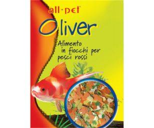 Mangime per animali d'affezione. Alimento completo in fiocchi per pesci rossi.