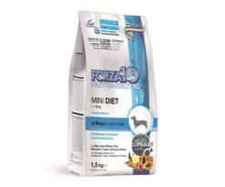 Forza10 mini diet al pesce è la referenza della linea dietetica studiata da sanypet per soddisfare tutti i cani di piccola taglia affetti da ipersensibilità alla carne