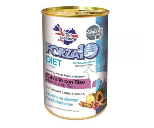 Forza10 diet cavallo con riso è una dieta monoproteica alle carni alternative della linea dietetica studiata da sanypet integrata con innovative microcapsule