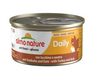 Daily è la linea di alimenti per gatti preparata con i migliori ingredienti freschi