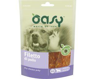 Cercate uno snack da portare sempre con voi e per il vostro cane? Oasy filetto di pollo è un premio gustoso e sano
