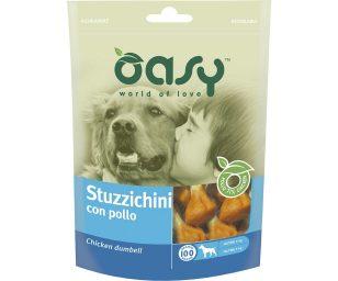 Oasy stuzzichini di pollo è un delizioso snack per il vostro cane