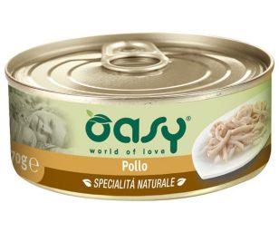 Gli alimenti umidi Oasy sono preparati con ingredienti di alta qualità per soddisfare le esigenze nutrizionali del tuo piccolo felino