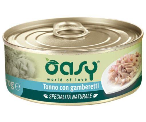 Oasy tonno con gamberetti è una specialità naturale complementare