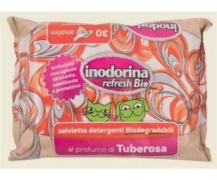 Salviette igienizzanti e profumate in tessuto resistente di puro cotone. Umidificate con un agente idratante