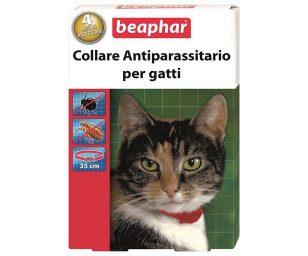 Collare antiparassitario al diazinone per il trattamento delle infestazioni da pulci (Ctenocephaldes felis) e zecche (Ixodes ricinus) nei gatti.