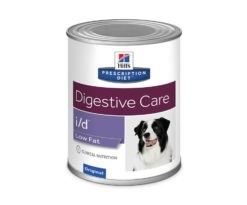 Prescription diet i/d low fat canine è clinicamente provato per calmare & lenire il tratto digerente.