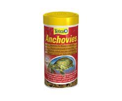 Mangime naturale per tartarughe acquatiche costituito da pesce intero (acciughe) per riprodurre la dieta tipica di questa specie.