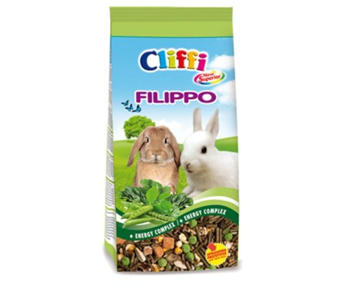 Alimento composto per conigli nani da compagnia.