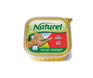 Naturel è un alimento per gatti che contiene solo ingredienti di prima scelta cotti in modo semplice.