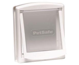 Finitura bianca con sportello trasparente. Indicata per cani fino a 45 kg. Dimensioni complessive: mm 456x386 . Dimensioni foro nella porta: mm 370x314. Larghezza del passaggio: mm 290.
