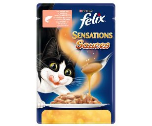 Felix sensations sauces è una gamma di gustose ricette con teneri pezzettini combinati con salse succulenti ogni volta diverse