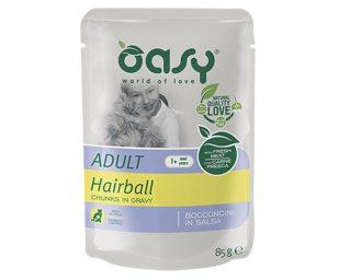 Alimento completo con pollo per gatti adulti predisposti alla formazione di boli di pelo.